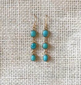 Roost Turquoise Cabochon Dangle Earrings