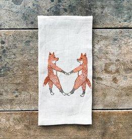 The Birch Store Fox Love Linen Tea Towel