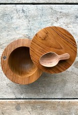 be Home Teak Salt Cellar with Spoon