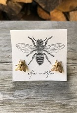 Semaki & Bird Large Gold Bee Post Earring