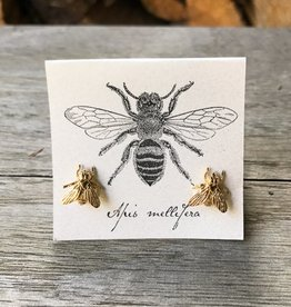 The Birch Store Large Gold Bee Earring
