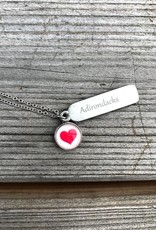 The Birch Store Pewter Adirondack Heart Necklace