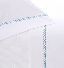 Pine Cone Hill Helix French Blue Queen Sheet Set