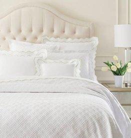 Pine Cone Hill Traliccio White Queen Matelasse Coverlet