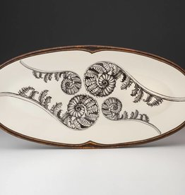 Laura Zindel Coiled Wood Fern Platter