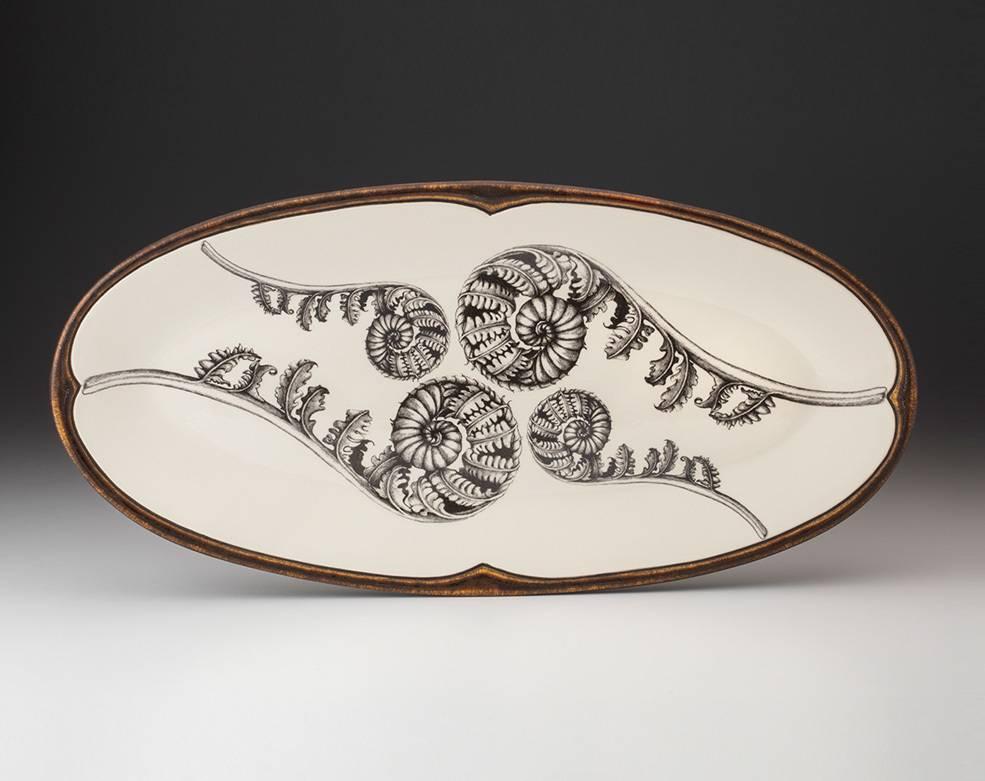 Laura Zindel Coiled Wood Fern Platter