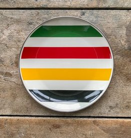 Golden Rabbit Cabin Living Striped Plate