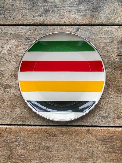 Golden Rabbit Cabin Living Striped Plate