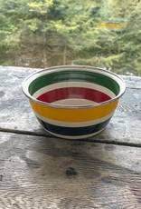 Golden Rabbit Cabin Living Striped Bowl