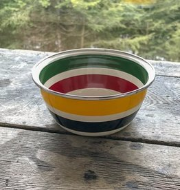 Golden Rabbit Cabin Living Striped Bowl
