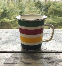 Golden Rabbit Cabin Living Striped Mug