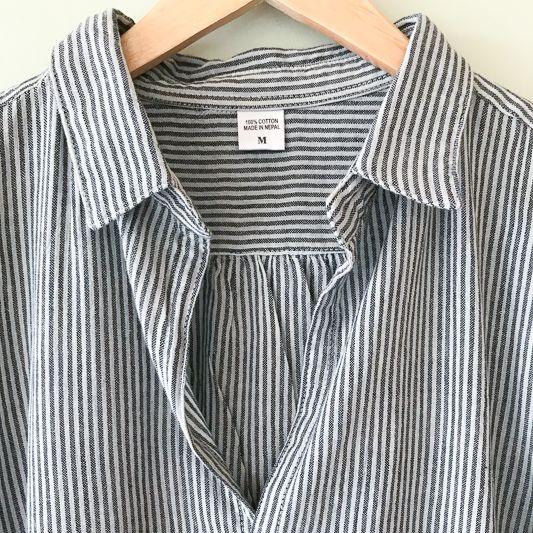 Dolma Black & Cream Striped Tunic