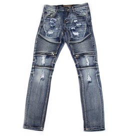 Crysp Denim Pete Biker Denim
