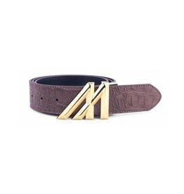 Mint Crocodile Belt