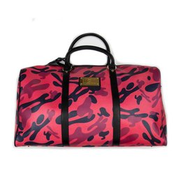 Hidden Hype H Camo Leather Duffle