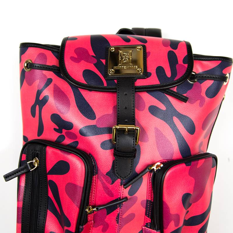 Hidden Hype H Camo Leather Bag