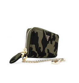 Mint Mint Camo Nylon Card Wallet
