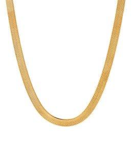 King Ice 14K Thin Herringbone Chain
