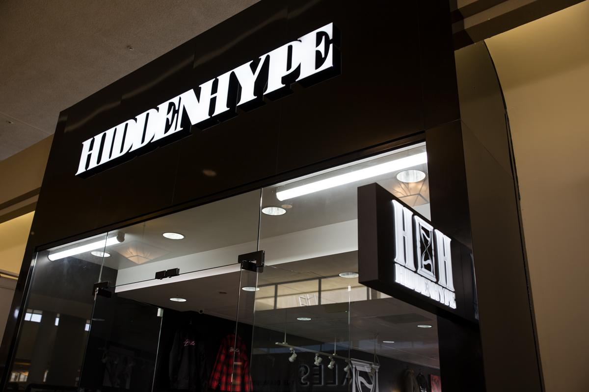 hidden hype storefront sign