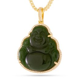 King Ice King Ice Gold Buddha Gemstone Necklace