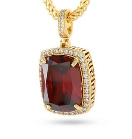 King Ice King Ice Ruby Jewel Pendant Necklace