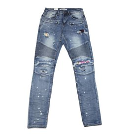 Embellish NYC Embellish Slash Biker Patched Denim