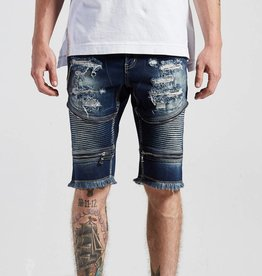 Crysp Denim Pete Biker Shorts