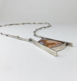 Ginger Meek Allen | Art Jewelry Earth Patterns Necklace with Lysite Agate