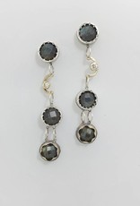 Musings Fancy Earrings with Labradorite and Diamonds - long