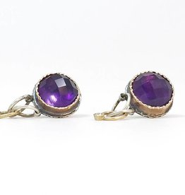 Musings Fancy Earrings with Rich Dark Amethyst and Diamonds