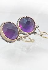 Musings Fancy Earrings with Rich Dark Amethyst and Diamonds