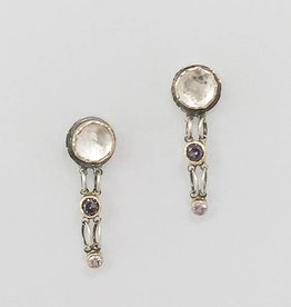 Musings Fancy Earrings with White Topaz and Alexandrite
