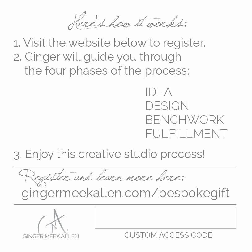 Custom Jewelry by Ginger Meek Allen Bespoke Gift