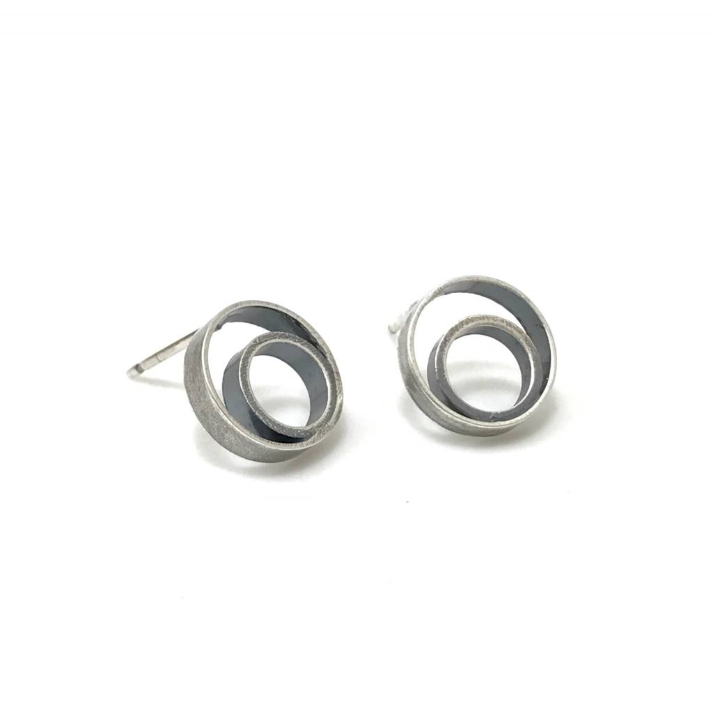Companions Series Double Ring Studs