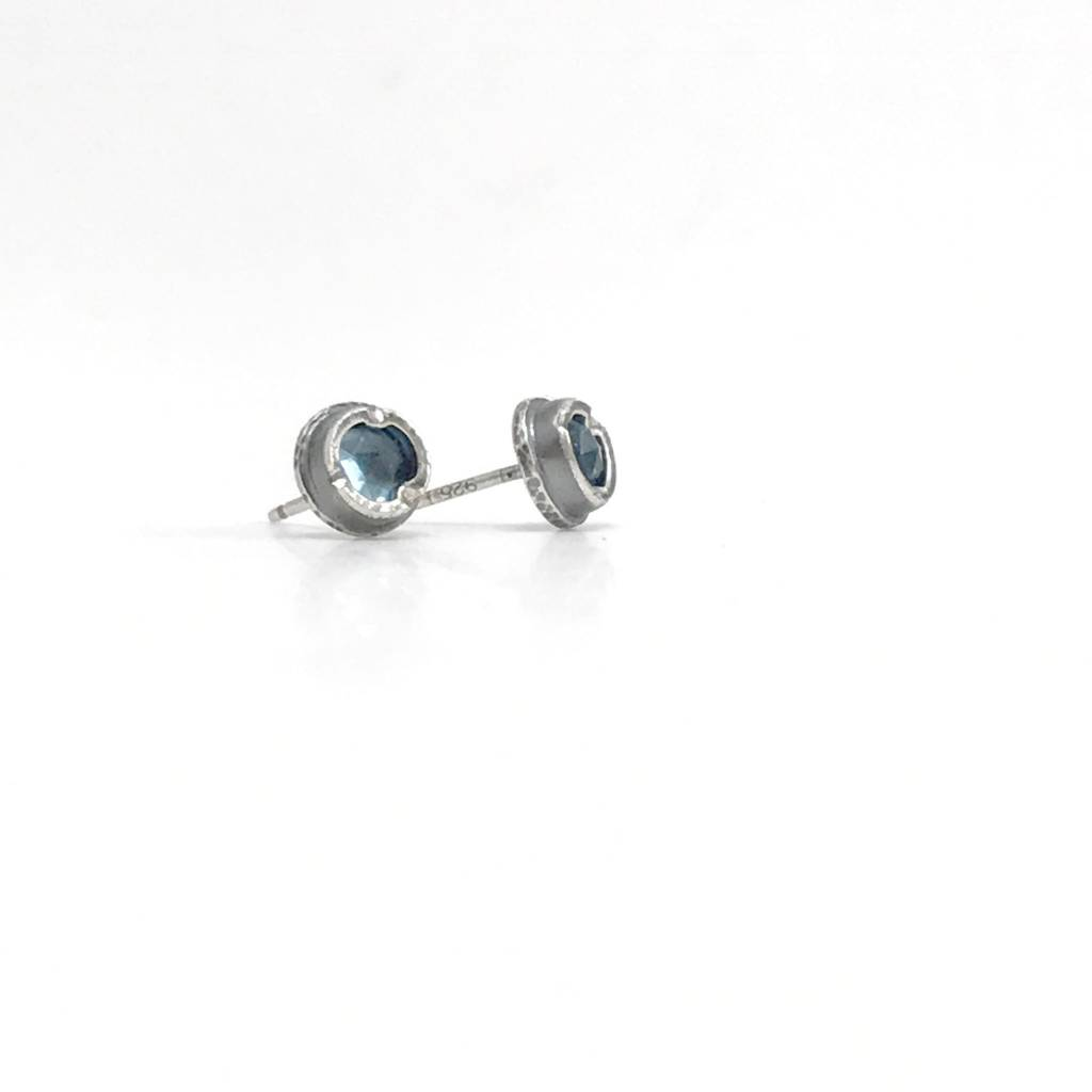 Eclectic Ethos Swiss Blue Topaz Eclectic Ethos Studs
