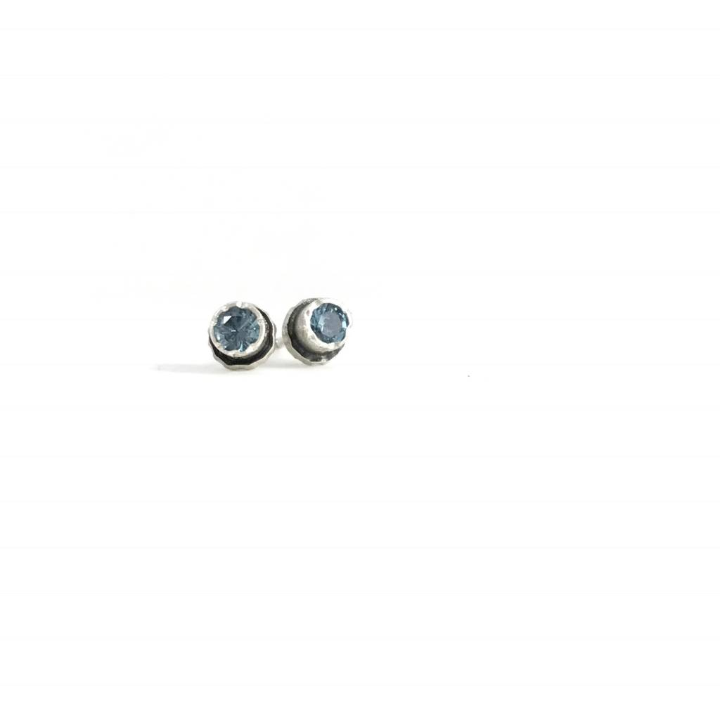 Eclectic Ethos Tiny Swiss Blue Topaz Eclectic Ethos Studs
