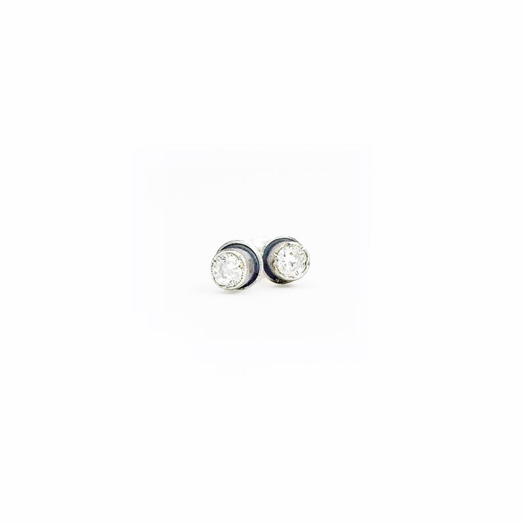 Eclectic Ethos Tiny White Topaz Eclectic Ethos Studs