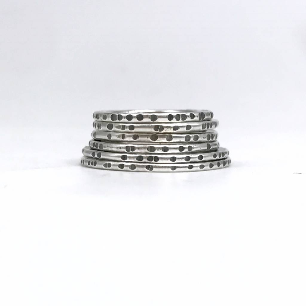 Simplicity Sliced Forged Edge Stacking Ring