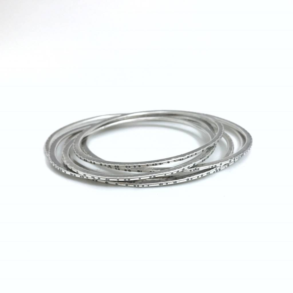 Simplicity Sliced Forged Bangles