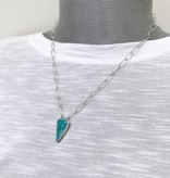 Musings Ease Necklace with Turquoise - 3