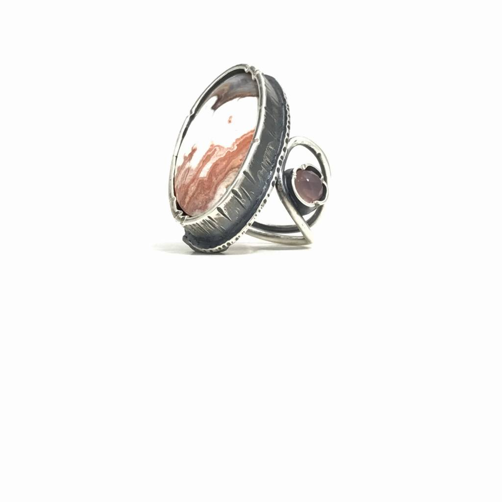 Eclectic Ethos Leather Petal Ring - Medium