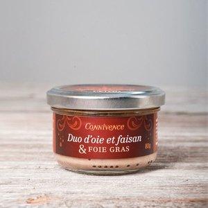 connivence Duo d'oie et faisan et foie gras