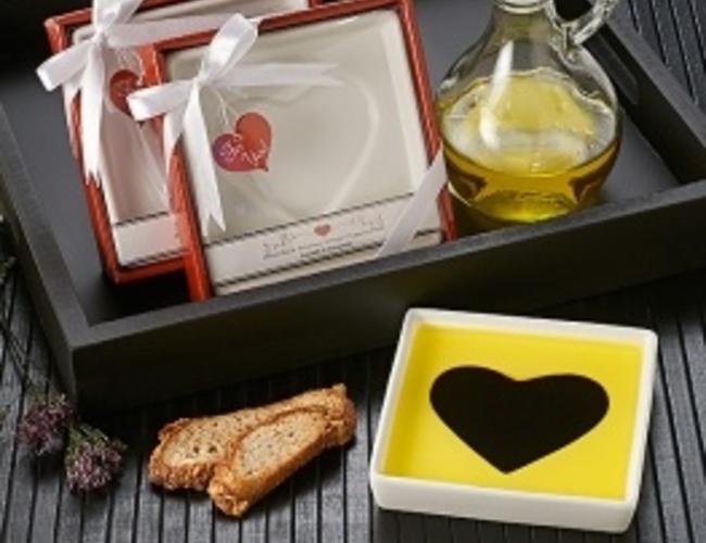 Assiette trempette H&V coeur