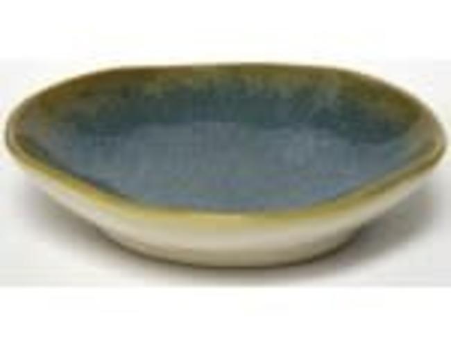 Sous les oliviers assiette individuelle brune et bleu