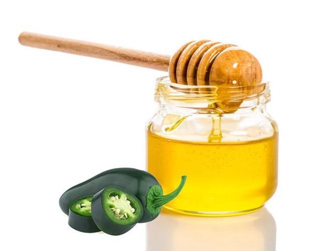 Sous les oliviers vinaigre de vin - Chili serrano et miel