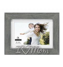 malden i heart mom gray frame - Mom Picture Frames