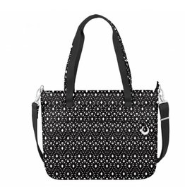 Travelon Anti-Theft Tote Geo Shell-black & white