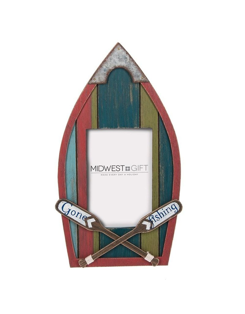 MIDWEST CBK Gone Fishing Metal Frame - Gifts and More