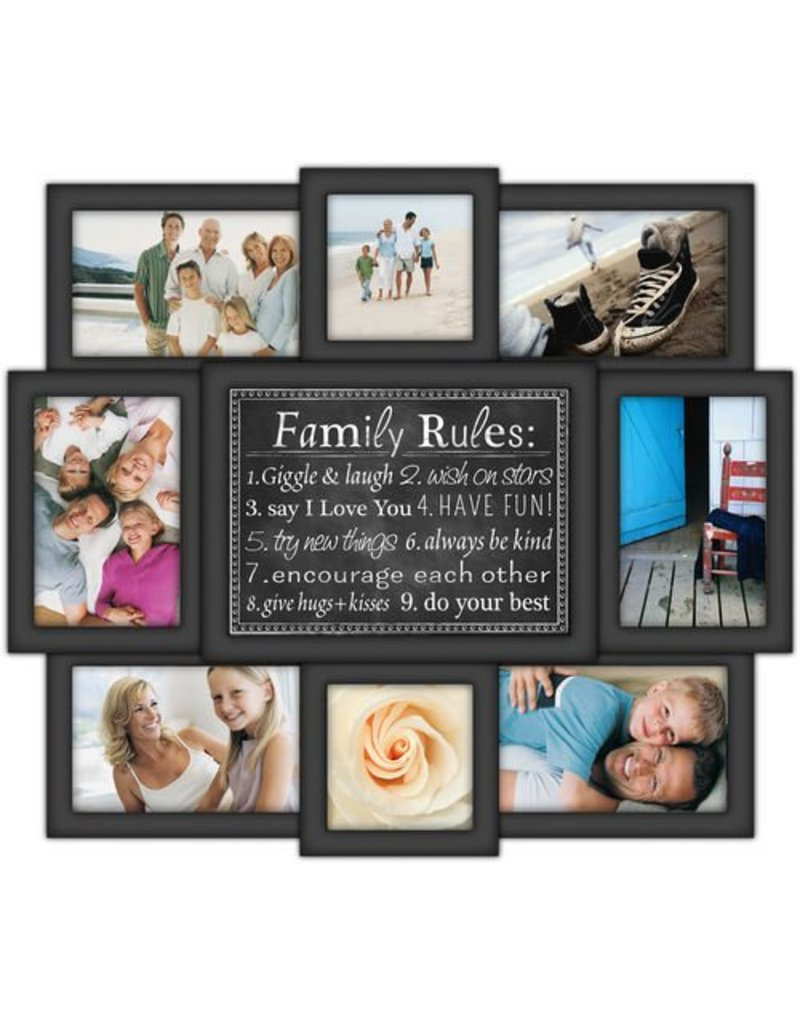 Malden 8-Op Family Rules Frame - Gifts and More