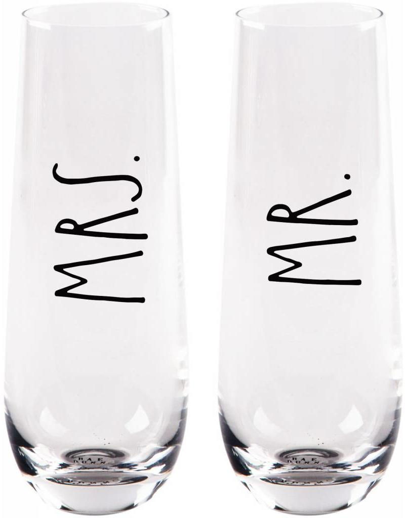 Mr & Mrs Stemless Flute - Gifts and More